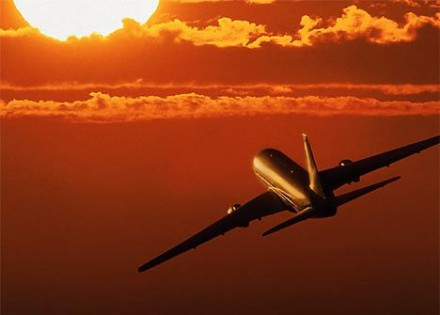 airplane sun