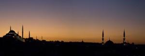 sunset Blue Mosque