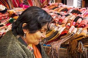 quilts in pisac market peru