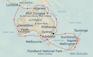 map of Australia Cruise