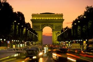 arc de triomphe from street