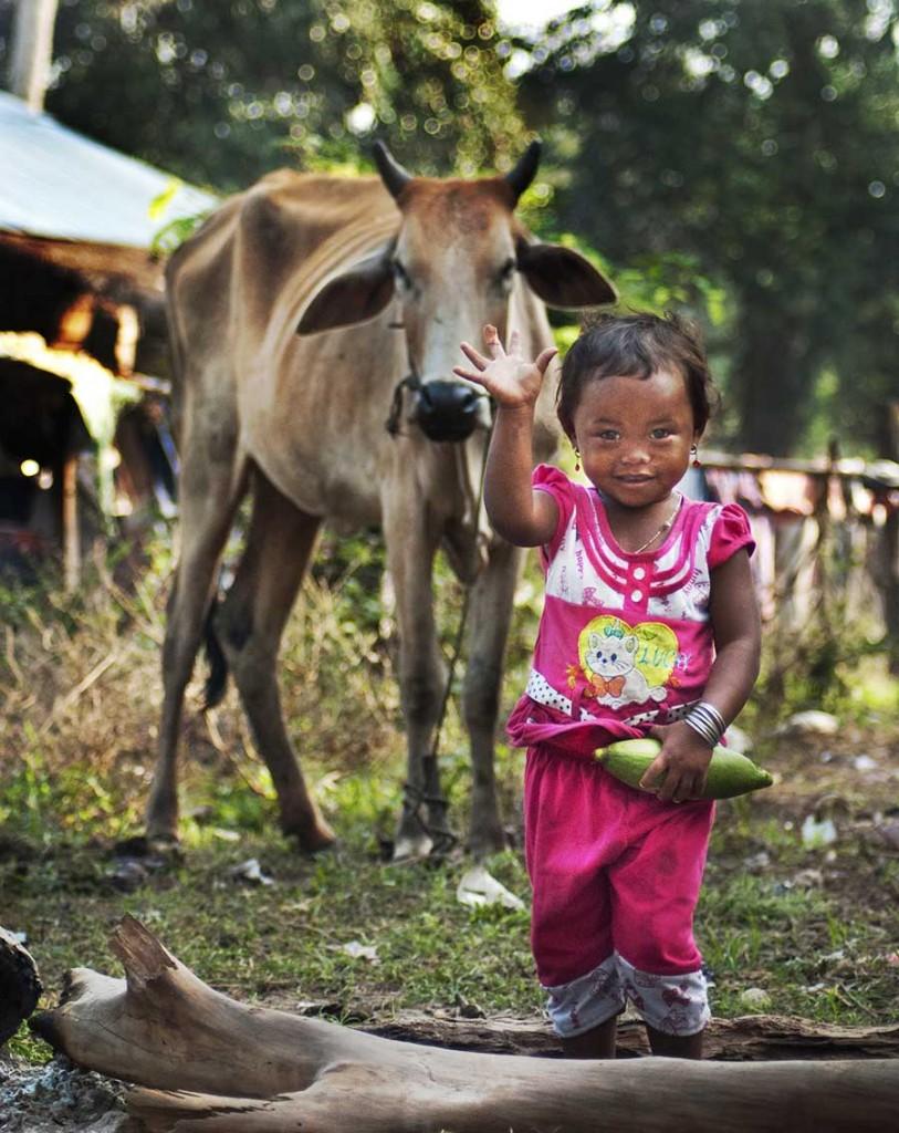 Cambodia village girl