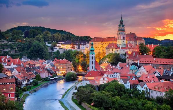 PhotoFly Travel Club | cesky-krumlov sunset | PhotoFly Travel Club