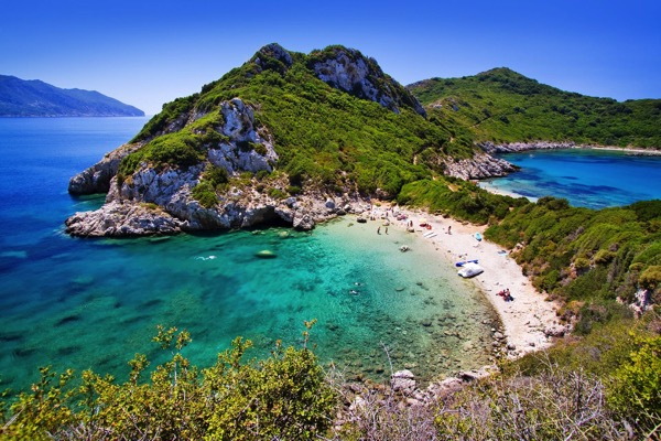 PhotoFly Travel Club | corfu-beach-porto-timoni-near-agios-stefanos-corfu-island-greece-shutterstock_701293846 | PhotoFly Travel Club