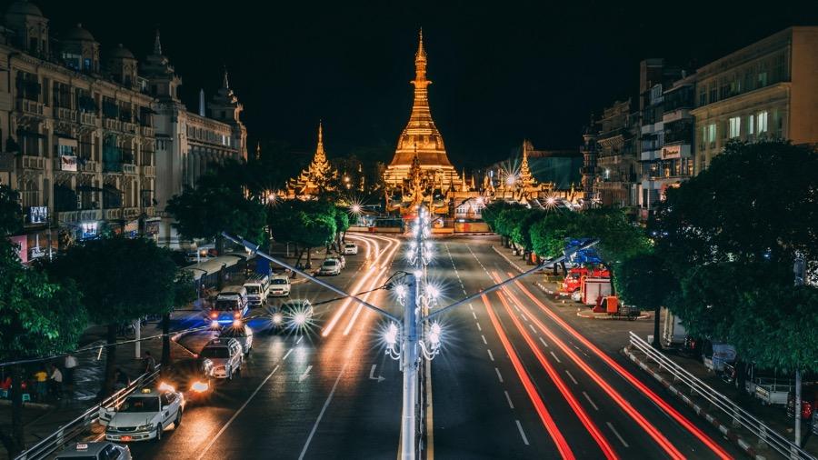 PhotoFly Travel Club | Yangon city night | PhotoFly Travel Club