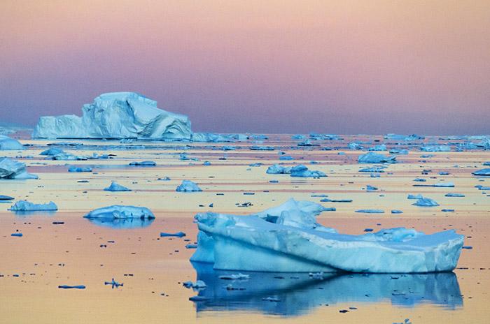 PhotoFly Travel Club | Icebergs Sunset WP | PhotoFly Travel Club